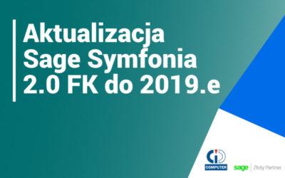 Sage Symfonia 2.0 Finanse i Księgowość – nowa wersja 2019.e